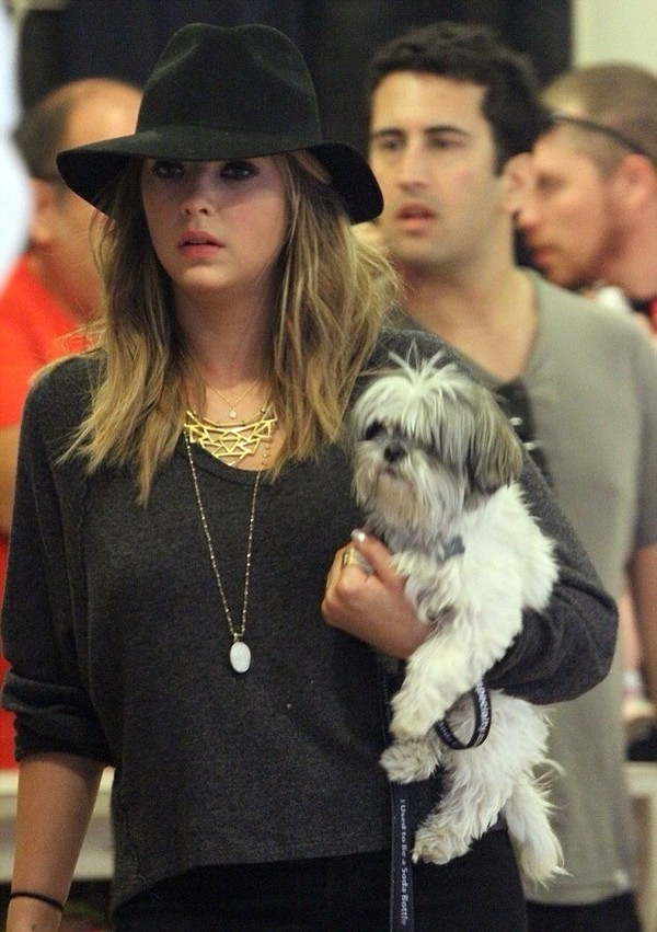 hat ashley benson shirt jewels