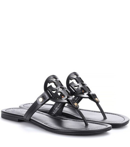 Tory Burch Miller leather sandals in black