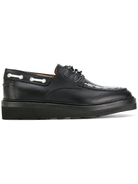 women shoes lace leather black