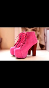 shoes,pink,sexy shoes,rose,beautiful,girl,high heels,platform lace up boots,pink high heels