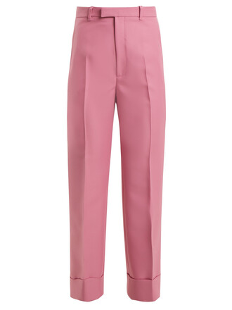 cropped high pink pants