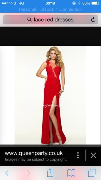 dress prom red prom dress