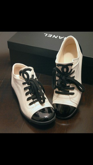 shoes black ivory chanel sneakers