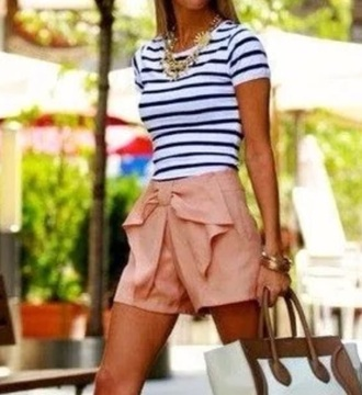 shorts peach striped shirt style shirt
