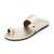 Newbark Roma V Toe Ring Sandals - Silver Metallic