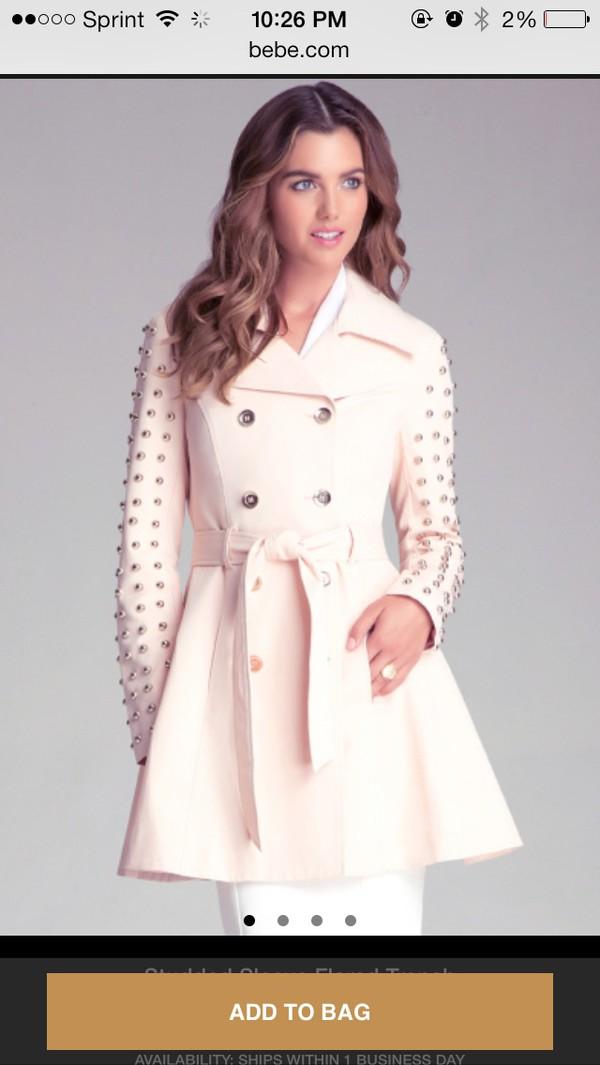 studded jacket studded coat jacket trench coat