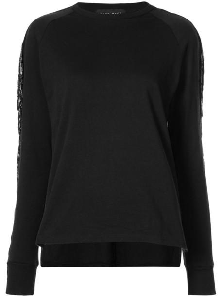 Baja East sweatshirt women embellished cotton black sweater