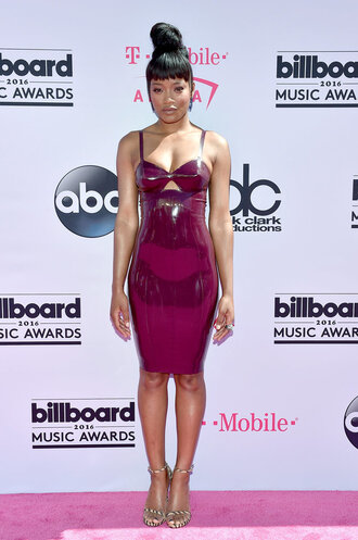 dress billboard music awards keke palmer bodycon dress sandals sexy dress burgundy burgundy dress bodycon sexy black girls killin it