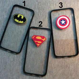 phone cover batman iphone case superman captain america cool fashion style transparent teenagers trendy it girl shop