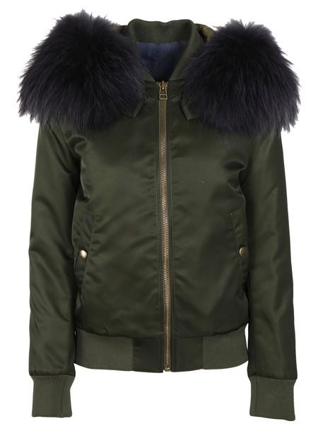 Mr & Mrs Italy jacket bomber jacket fur green