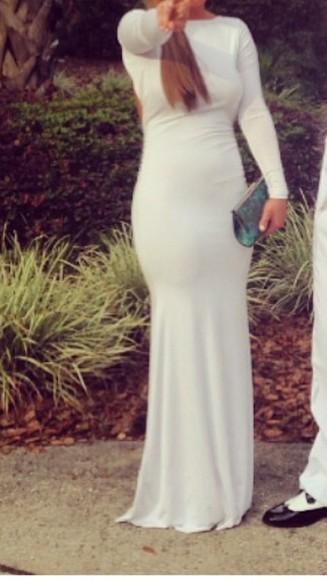 long sleeve dress cotton prom dresses long