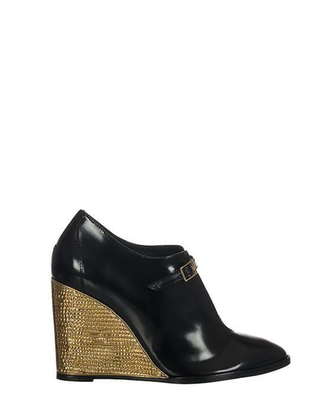 PALOMA BARCELÒ wedges leather wedges leather black shoes