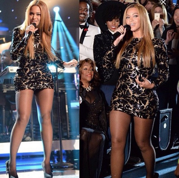 Dress Black Gold Mini Dress Beyonce Sequins Michael Costello