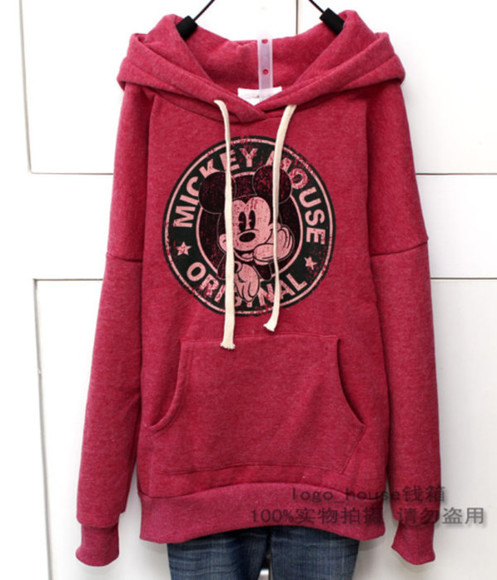 jacket pockets mickey mouse hoodie starbucks logo