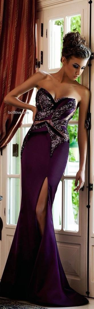 dress prom dress purple dress strapless dresses