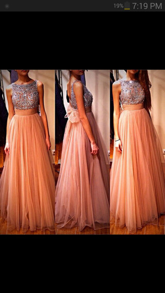 dress coral dress long prom dress sparkly dress babyonlinedress.com