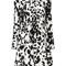 Msgm - dalmatian dot dress - women - silk - 42, white, silk