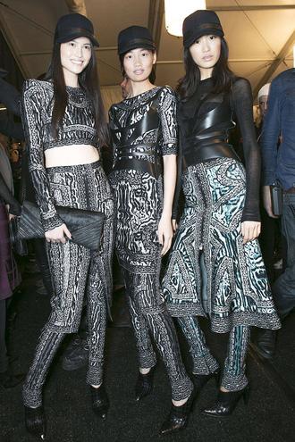 dress bqueen fashion bandage sexy cool chic girl leopard print print mesh zip long sleeves