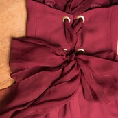 dress,outrage,cocktail dress,burgundy,berry,lace up,bodycon,formal dress,bridesmaid,1990s,vintage