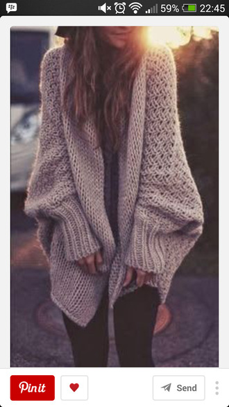 sweater winter season soft wool warm clothing lazy wear cardigan beige sweater