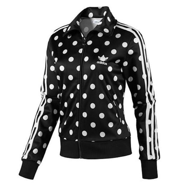 jacket adidas polka dots