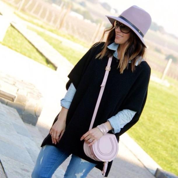 blouse black coat hat jacket