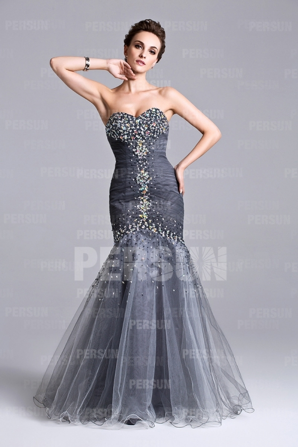 Sweetheart Champagne tone Mermaid Backless Ruching Debs dress [PPCD2022] - PersunMall.com