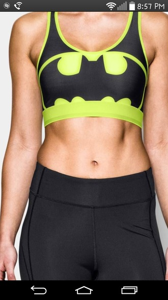 tank top sports bra batman