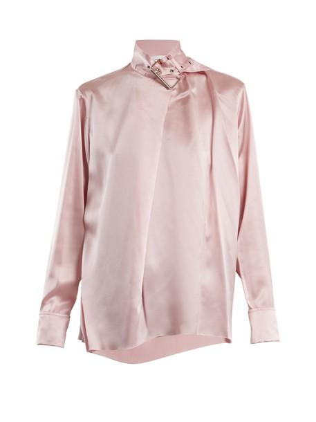 MARQUES'ALMEIDA top silk satin light pink light pink