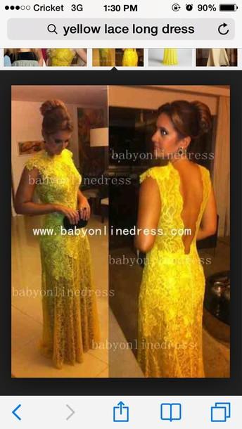 dress yellow lace dress yellow dress