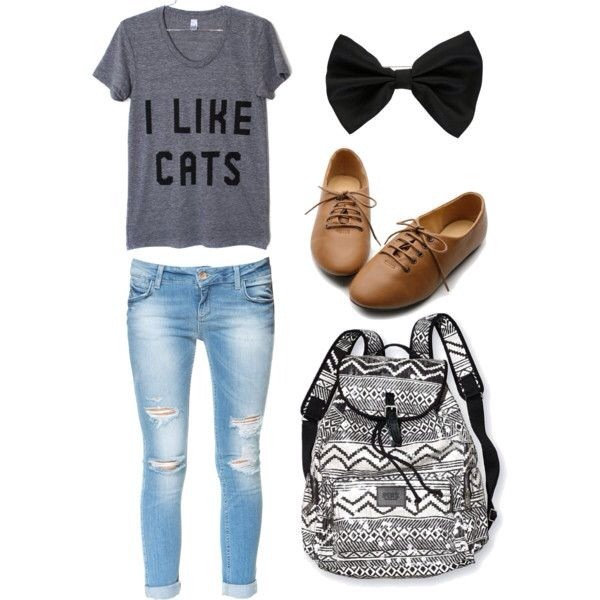 jeans ripped hipster bag