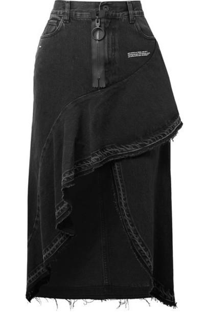 Off-White skirt denim skirt denim black