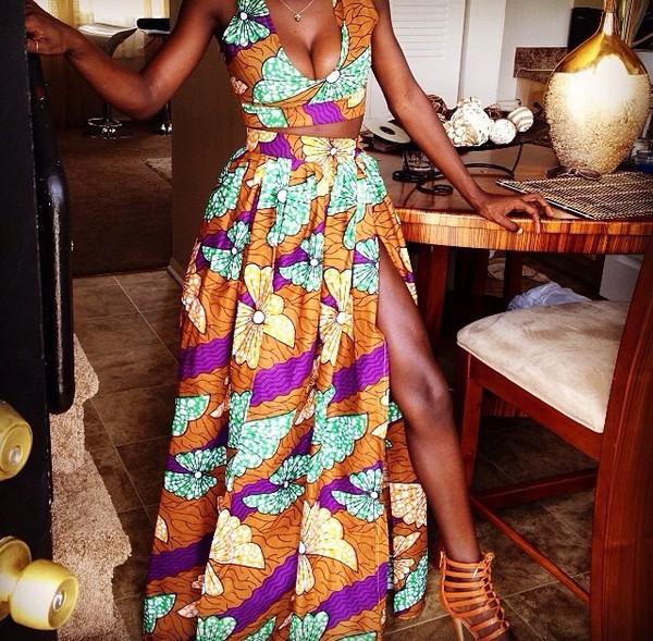Skirt Fabric Ankara African American African Print