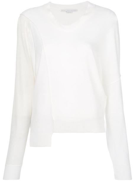 jumper women white wool sweater