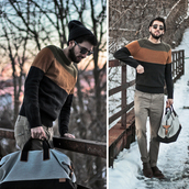 bobby raffin,blogger,menswear,mens sweater,striped sweater,mens bag,mens holdall