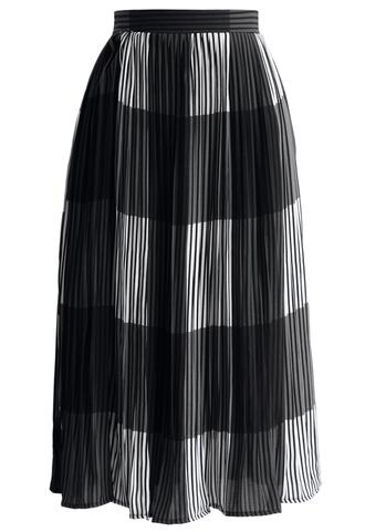 skirt stripe this way pleated midi skirt in grey chicwish pleated skirt midi skirt grey skirt