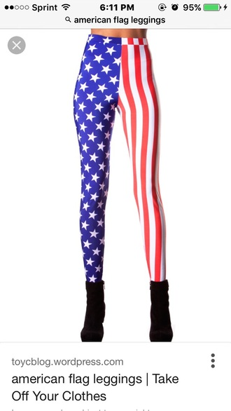pants leggings american flag