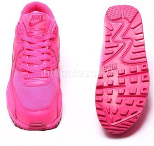 NEW NIKE AIR MAX 90 GS WOMENS GIRLS TRAINERS ALL HYPER PINK VIVID PINK