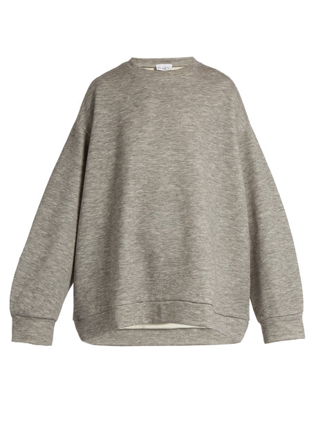 RAEY Crew-neck cashmere-blend sweatshirt in grey