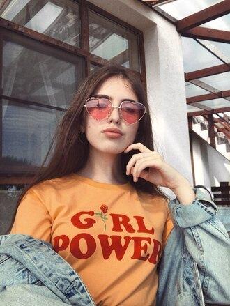 shirt t-shirt women summer clothes girl power girl power feminism feminist