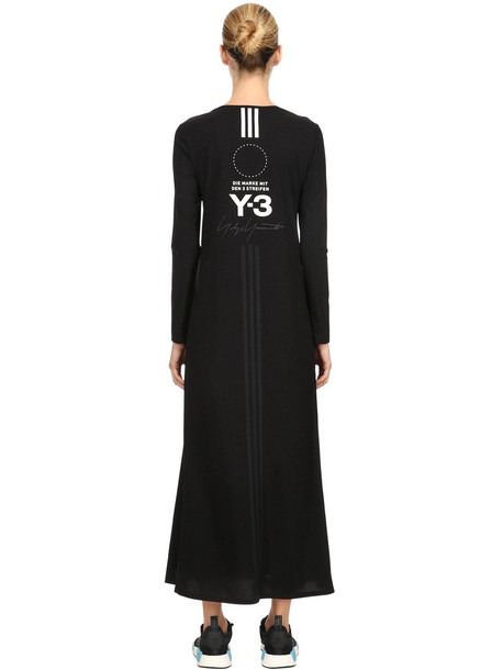 Y-3 Stacked Logo Stretch T-shirt Dress in black