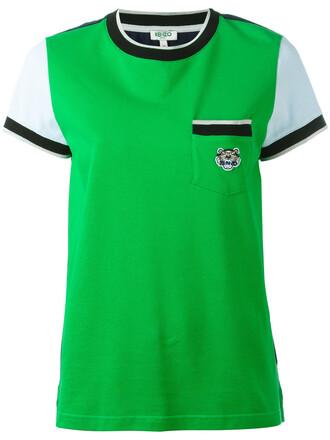 t-shirt shirt mini women tiger cotton green top