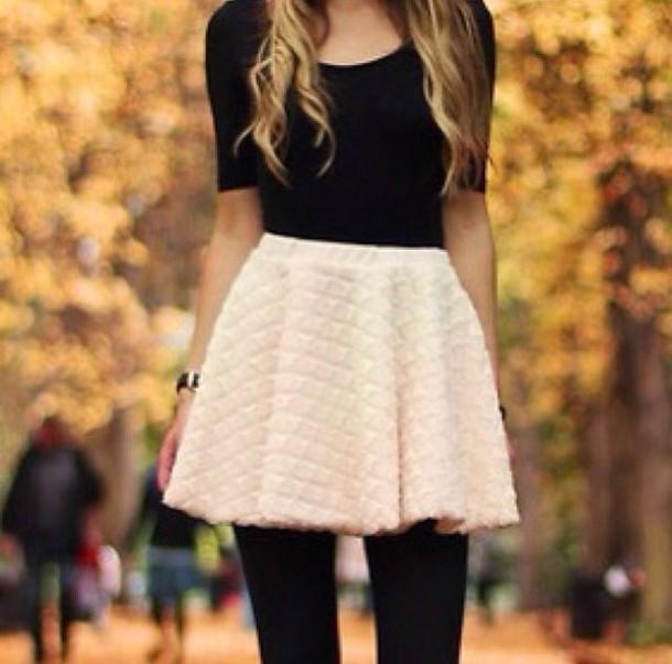 Skirt cute wool white cream cream skirt white skirt wool skirt pretty cute skirt ...