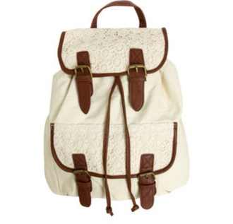 bag white backpack bag for school back to school vintage vintage bag need this bagpack school bag for girl