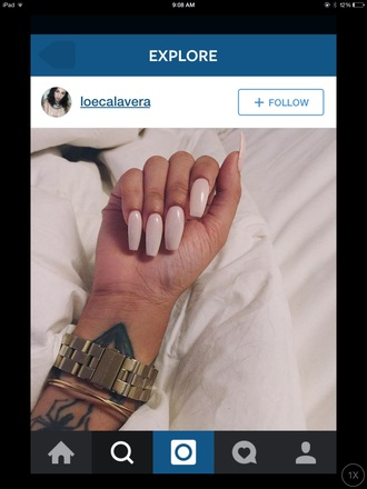 nail polish pink girly tumblr summer cute instagram stiletto nails nails watches for women style urban pastel pink