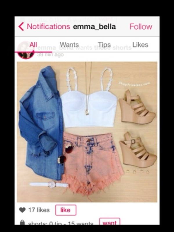shoes jacket jewels shirt sunglasses shorts