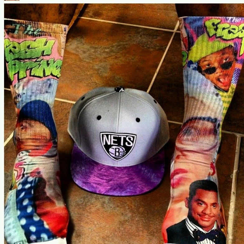 Custom Fresh Prince of Bel Air Dri Fit Socks Bedrock Gamma Laney Oreo III IV V | eBay