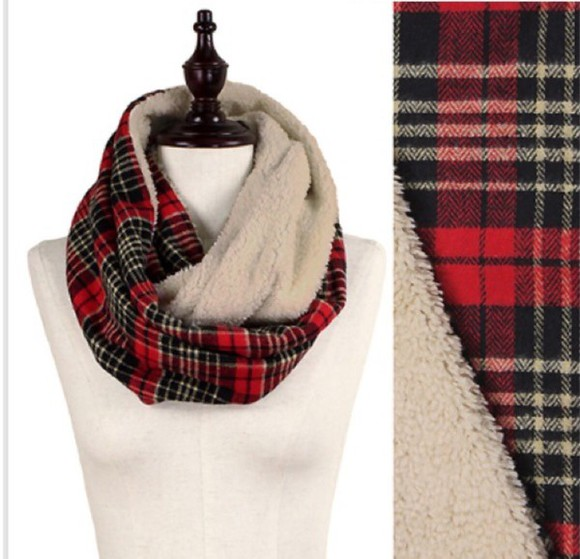 scarf flannel lined infinity warm