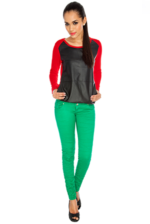 Crushed Colour Skinny Jeans *