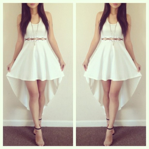 Dress White Dress Fashion Style Girl Skirt Top Wheretoget